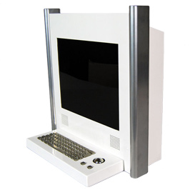 Desk Mounted Screen Kiosk Z2